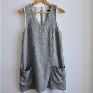 Zara Basic dress with linen overlay.  So cute